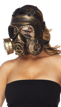 Steampunk Gas Mask - Gold