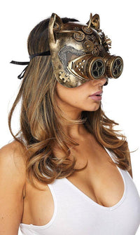 Masquerade Mechanical Cat Mask - SohoGirl.com
