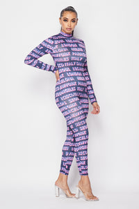 London Paris Milan Jumpsuit - Navy Pink - SohoGirl.com