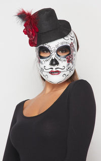 Day of the Dead Top Hat Mask - SohoGirl.com