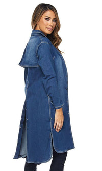 Judy Blue Denim Trench Coat (Plus Sizes Available) - SohoGirl.com