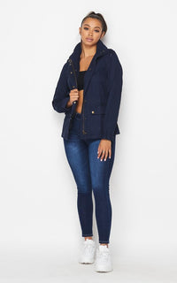 Navy Blue Utility Trench Coat (S-XL) - SohoGirl.com
