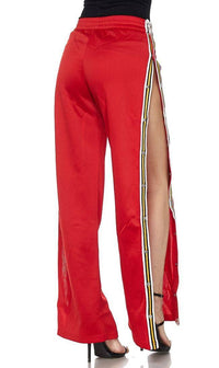 Snap Tearaway Track Pants in Red