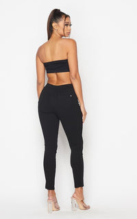 Beulah Stretchy Jeggings in Black