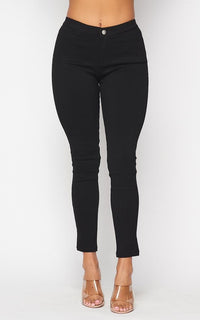 Beulah Stretchy Jeggings in Black - SohoGirl.com