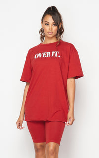 Over It Oversized T-Shirt - Brick
