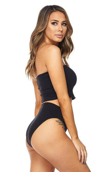 Black High Waisted Undergarment Panty