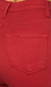 Red Super High Waisted Skinny Jeans
