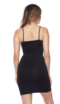 Form Fitting Shapewear Undergarment Dress - Black