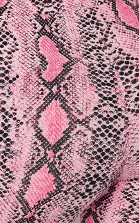 Neon Pink Snake Print High Waisted Leggings