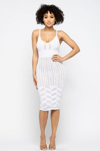 Pointelle Cami Dress - White - SohoGirl.com