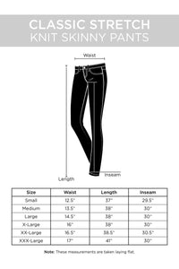 Plus Size Classic Stretch Knit Skinny School Pants - Black - SohoGirl.com