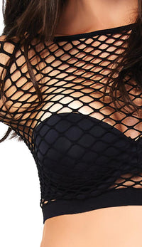 Two Piece Industrial Net Top and Panty Set - SohoGirl.com