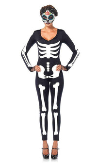 Glow-in-the-Dark Skeleton Catsuit - SohoGirl.com