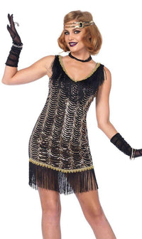 Vintage Flapper Girl Costume (S-XL)