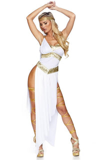 Golden Goddess Costume - White-Gold