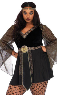 Plus Size Glamazon Warrior Costume in Black