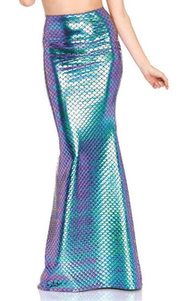 Luminous Multicolored Scale Mermaid Skirt