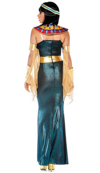 Nile Goddess Shimmer Maxi Dress - Multicolor - SohoGirl.com