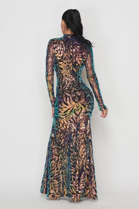 Sequin Maxi Dress - Multi Color - SohoGirl.com