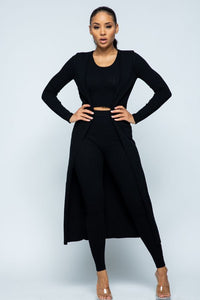 Knit 3 Pieces Set - Black