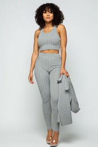Knit 3 Pieces Set - Grey