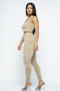 Feather 3 Pcs Set - Taupe - SohoGirl.com