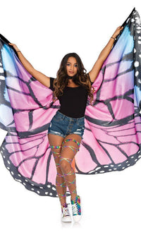 Butterfly Print Wings in Purple - SohoGirl.com