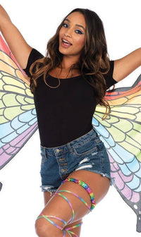Elastic Rainbow Butterfly Wings - SohoGirl.com