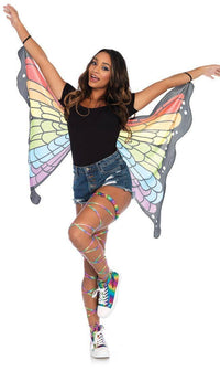 Elastic Rainbow Butterfly Wings