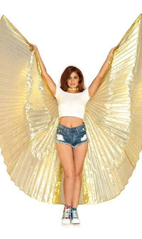 Metallic Gold Pleated Isis Wings