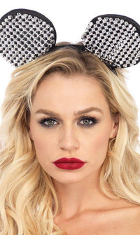 Cute Rocker Studded Mouse Ears