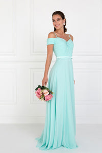 Elizabeth K GL1523 Ruched Sweetheart Dress in Mint