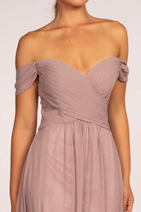 Elizabeth K GL2550 Off the Shoulder Dress - Mauve