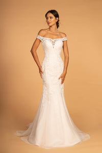 Elizabeth K GL2593 Strapless Sheer Wedding Dress - Ivory-Cream - SohoGirl.com
