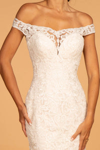 Elizabeth K GL2593 Strapless Sheer Wedding Dress - Ivory-Cream