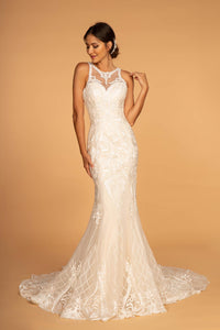 Elizabeth K GL2598 Cut-Out-Back Wedding Dress - Ivory-Champagne - SohoGirl.com