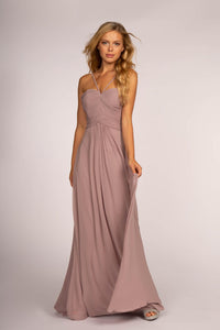 Elizabeth K GL2607 Cut Out Back Dress - Mauve - SohoGirl.com