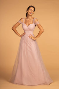 Elizabeth K GL2610 Sweetheart Chiffon Long Dress - Mauve - SohoGirl.com