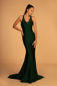 Elizabeth K GL2549 Open-Back Mermaid Long Dress - Green - SohoGirl.com