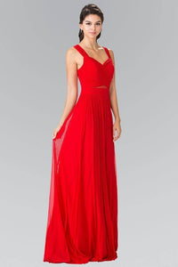 Elizabeth K GL2366 Sweetheart Cut Out Bridesmaids Long Dress in Red - SohoGirl.com