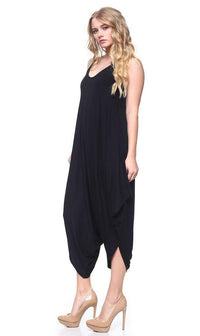 Relaxed Harem Jumpsuit in Black