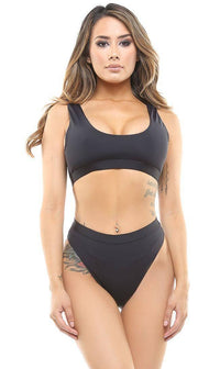 Black Seamless Sport Bottom
