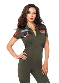 Top Gun Costume Flight Suit - Khaki - SohoGirl.com