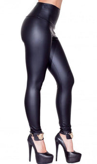 High Waisted Faux Leather PU Leggings in Black (Plus Sizes Available S-XXXL) - SohoGirl.com