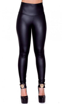 High Waisted Faux Leather PU Leggings in Black (Plus Sizes Available S-XXXL)