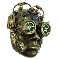 Steampunk LED Light Up Compass Mask - Gold