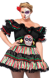 Plus Size Day Of The Dead Doll