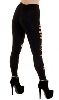 Ripped Up Torn Apart Leggings (Plus Sizes Available) - SohoGirl.com