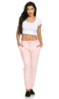 Classic Drawstring Jogger Pants in Blush (Plus Sizes Available) - SohoGirl.com